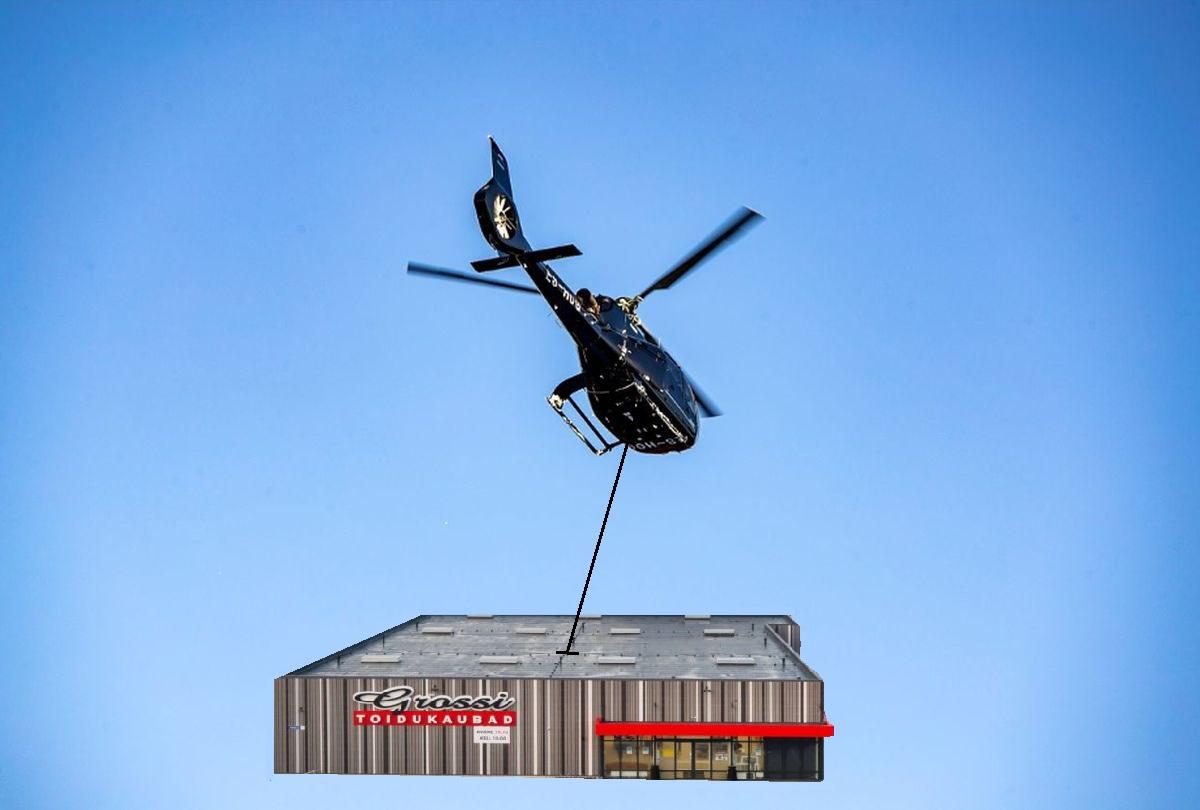 FOTOUUDIS! Oleg Gross transportis helikopteriga terve poe korraga Võrru