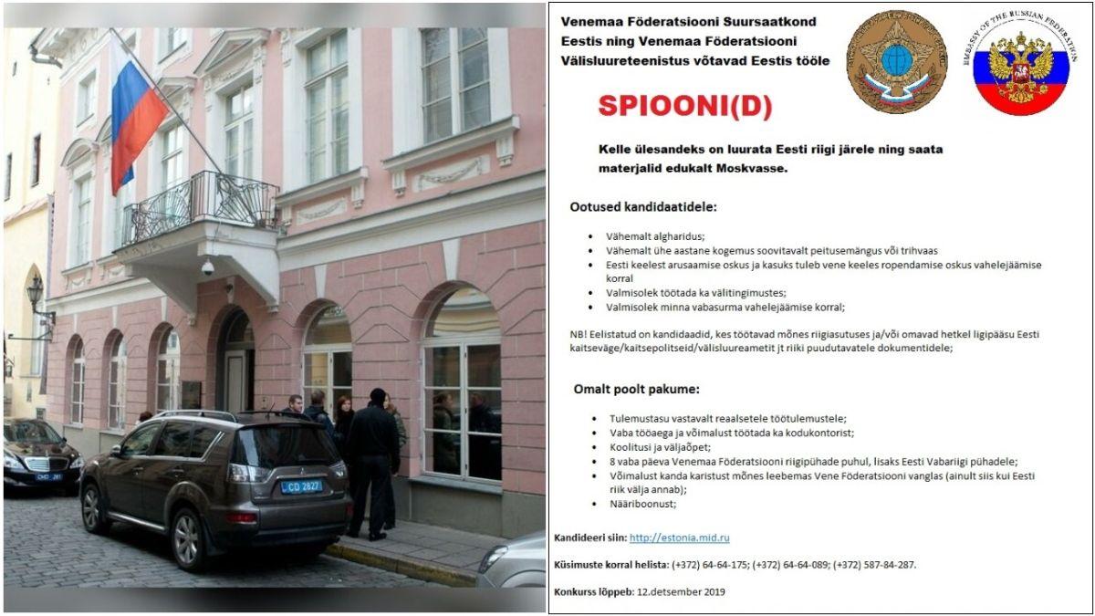 ŠOKEERIV FOTOUUDIS: Vene saatkond otsib töökuulutuse kaudu uusi spioone