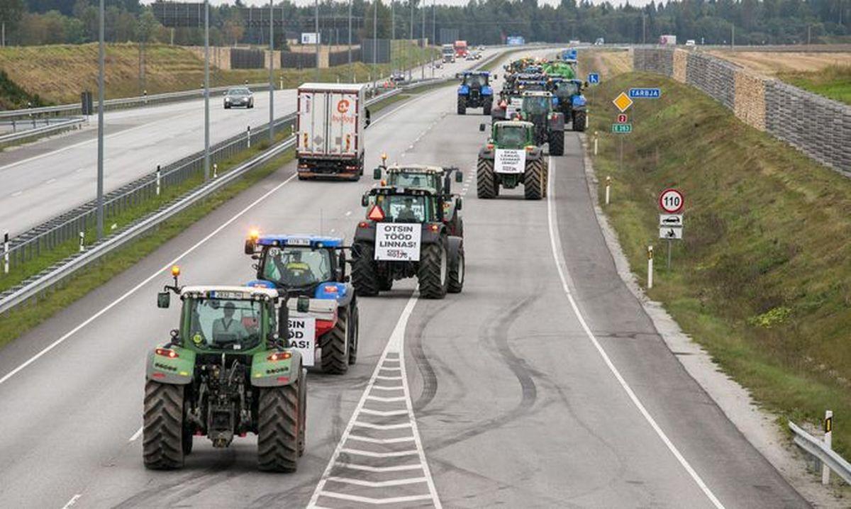 ETTEVAATUST! Täna kogunevad traktorid üle Eesti Toompeale kudema